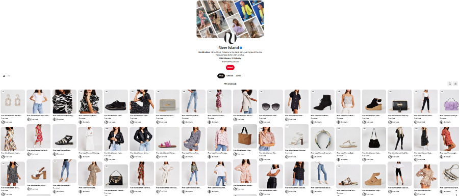Shoppable Post on Pinterest
